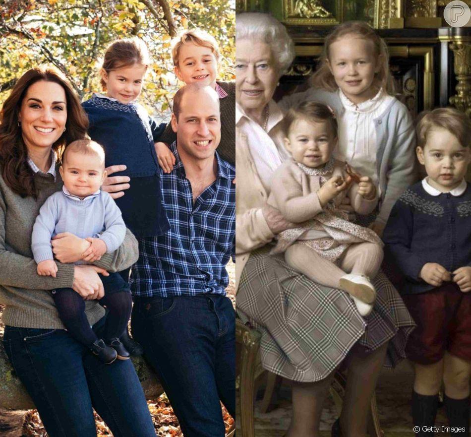 Princesa Charlotte repetiu casaco do irmão mais velho, George, no cartão de Natal da família
