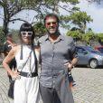 Fernanda Abreu foi com o marido ao casamento de Iza