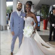 Iza escolhe dois vestidos de noiva para casamento: 'Tem show do Tchakabum hoje!'