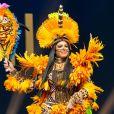 Miss Brasil e representante do Amazonas, Mayra Dias desfilou de índia em competição do Miss Universo