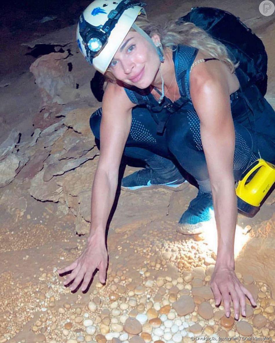 Grazi Massafera viaja para a  Chapada Diamantina, região de serras localizada na Bahia
