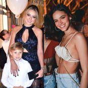 Davi Lucca chega a Noronha e vai com a mãe à mesma festa que Bruna Marquezine