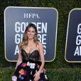 Bordado é trend! Heidi Klum escolheu o vestido preto com bordados floridos para o Globo de Ouro 2019