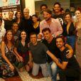 Famosos se reúnem para conferir estreia da peça 'Susto', no teatro Os 4, no Rio de Janeiro, na noite desta terça-feira, 15 de janeiro de 2018