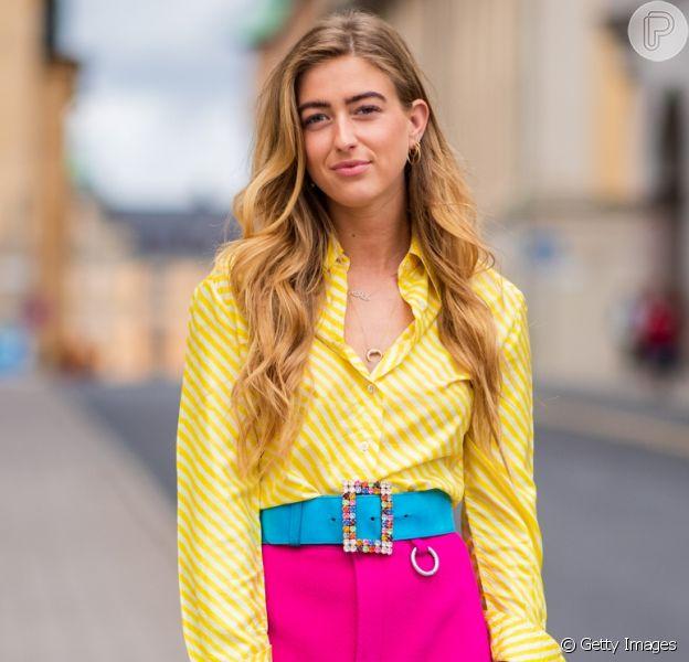 Color blocking: amarelo + pink + um toque turquesa