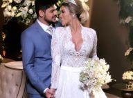 Filha daminha, emoção e beijo: sertanejo Cristiano e Paula Vaccari se casam
