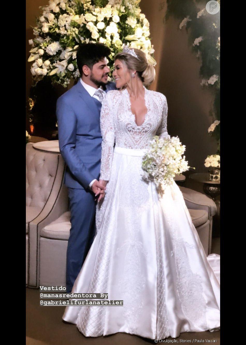 Sertanejo Cristiano, dupla de Zé Neto, se casa com Paula Vaccari