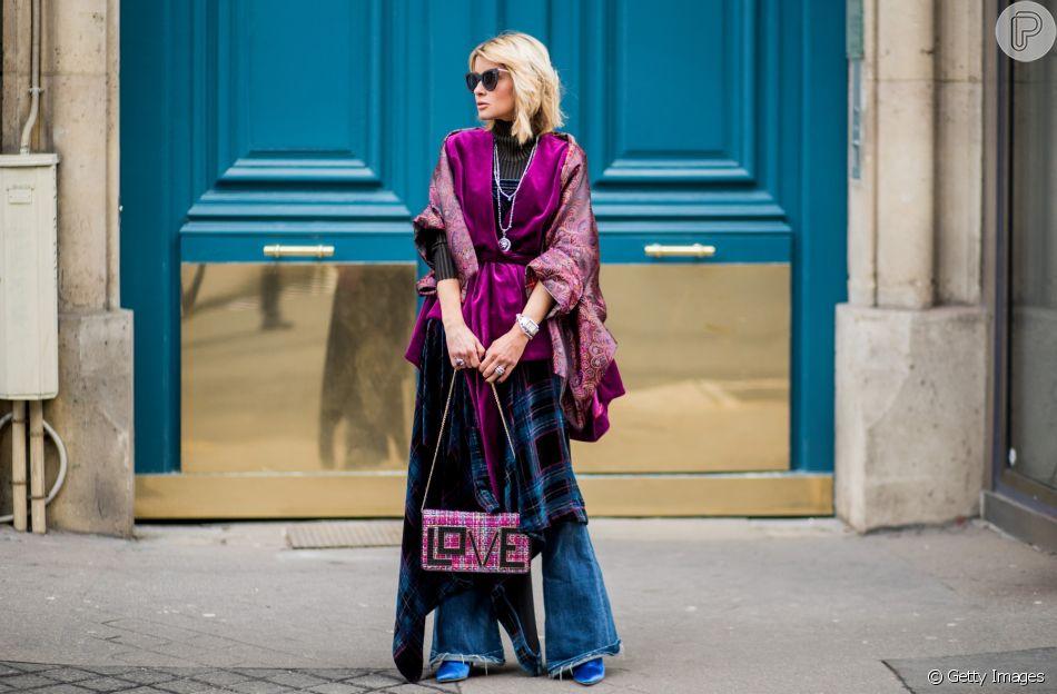 Jeans muito sofisticado com coordenação de peças mais elegantes