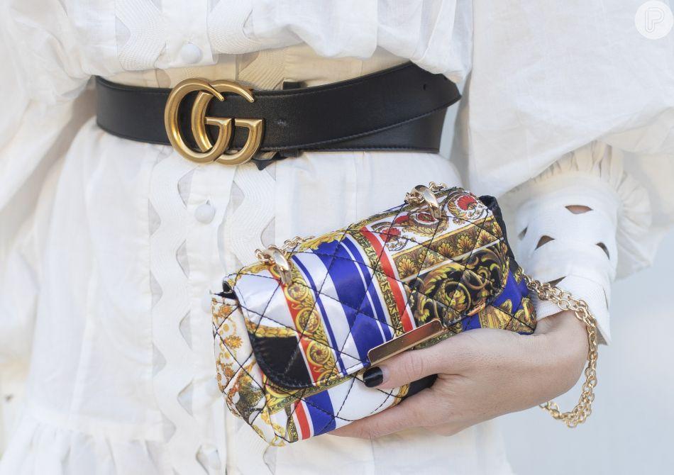 Truque de estilo: o cinto Gucci é um bom recurso para um toque ´statement´ ao visual