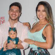 Filha de Mayra Cardi e Arthur Aguiar acompanha pais em evento: 'Uma princesa'