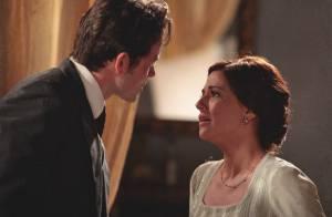 Em 'Lado a Lado', Sandra (Priscila Sol) conta ao marido que é mãe de Ângelo