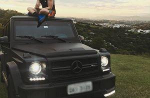 Luan Santana exibe carrão de R$ 1,2 milhão em foto: 'Lindo, mas eu sou mais'