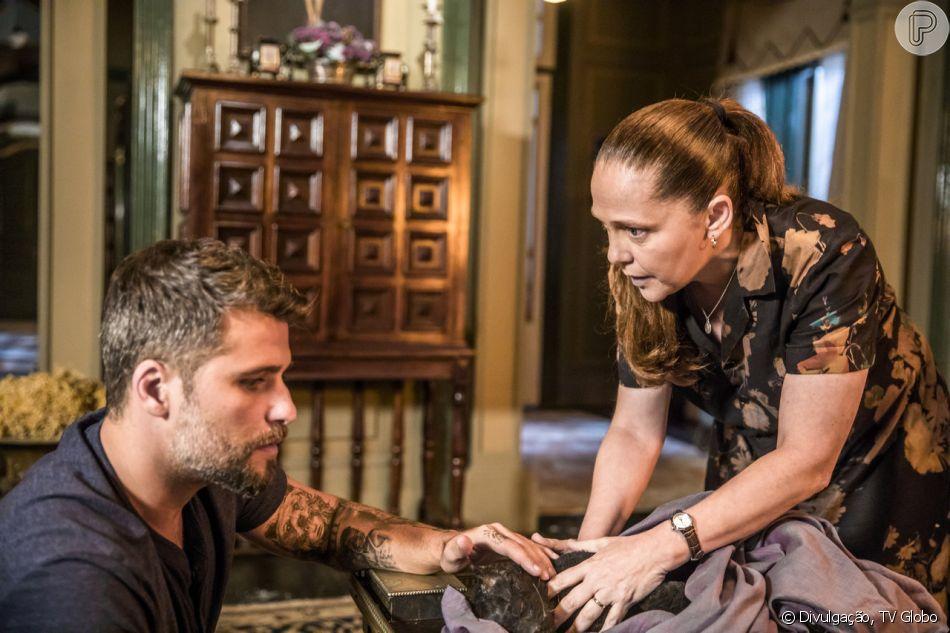 Bruno Gagliasso vai ser substituído por Isabela Garcia em cenas da novela 'O Sétimo Guardião'. Ator está afastado temporariamente por conta de cirurgia para retirada de cálculo nos rins