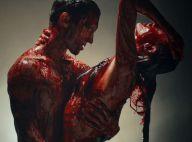 Adam Levine e Behati Prinsloo aparecem nus e cobertos de sangue em 'Animals'