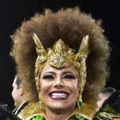 Viviane Araujo festeja 1º título da Mancha Verde no carnaval de SP: 'Guerreira!'
