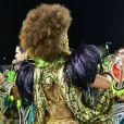 Viviane Araujo comemorou o primeiro título da Mancha Verde no Grupo Especial do carnaval de São Paulo: 'É Mancha! É campeã!'