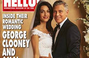 Amal Alamuddin usa vestido Oscar de la Renta em casamento com George Clooney