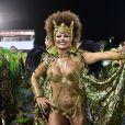 Viviane Araujo é rainha de bateria da Manche Verde, escola campeã do Carnaval de São Paulo de 2019. Ela usou um cabelo black power e uma fantasia que representava a princesa africana Aqualtune. A escola desfila nesta sexta-feira, 08 de março de 2019