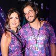 Fátima Bernardes se jogou na Marquês de Sapucaí com o namorado, Túlio Gadêlha, na noite deste sábado, 9 de março de 2019