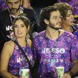 Fátima Bernardes foi fotografada com o namorado, Túlio Gadêlha, na noite deste sábado, 9 de março de 2019
