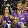 Fátima Bernardes e Túlio Gadêlha  marcaram presença no desfile das vencedoras do Carnaval do Rio de Janeiro na Sapucaí