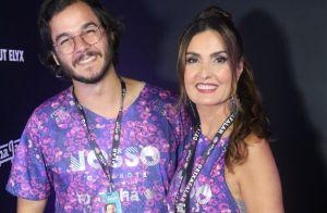 Só amor! Fátima Bernardes beija namorado, Túlio Gadêlha, na Marquês de Sapucaí