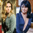 Giovanna Antonelli já usou peruca lace em tom preto azulado para se disfarçar na novela 'A Regra do Jogo', na época ela interpretava a golpista Atena, que tinha os fios loiros