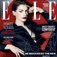 Anne Hathaway posa para capa de revista 'Elle' e fala sobre casamento