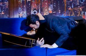 Maraisa beija Danilo Gentili na TV: 'Agora eu estou solteiro e você também'