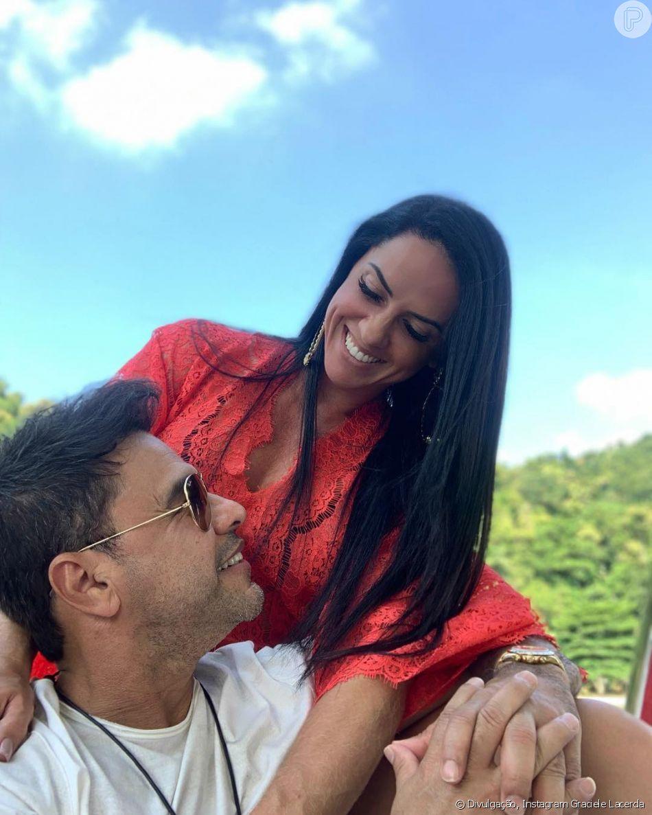 Graciele Lacerda está fazendo procedimento para tentar engravidar de Zezé Di Camargo, diz jornal.