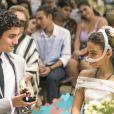Amanda (Pally Siqueira) realiza sonho ao ter casamento com Kavaco (Gabriel Contente) na novela 'Malhação: Vidas Brasileiras'