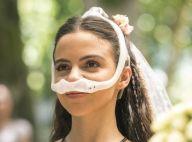 'Malhação':cadeirante, Amanda tem vestido de noiva que privilegia ombros de fora