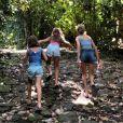 Grazi Massafera leva filha para curtir banho de cachoeira e mostra Sofia correndo na natureza