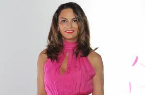 Luiza Brunet aposta em vestido rosa em inauguração de roda-gigante em SP