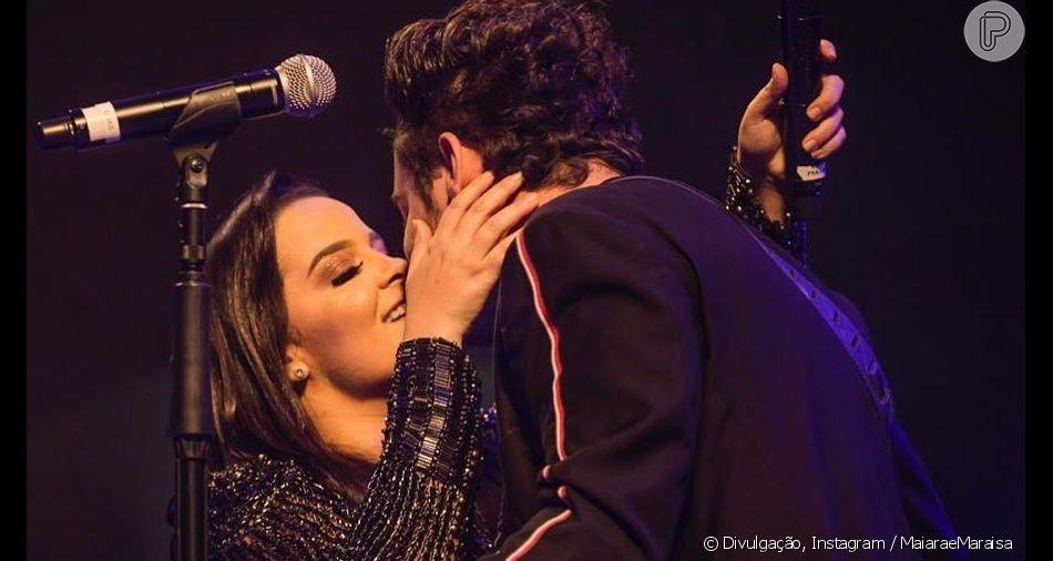 Dupla de Maraisa, Maiara volta a trocar beijos com Fernando Zor em show