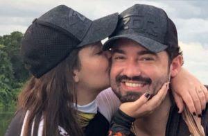 Maiara surpreende Fernando Zor que a beija em estúdio: 'Cadê meu marido?'