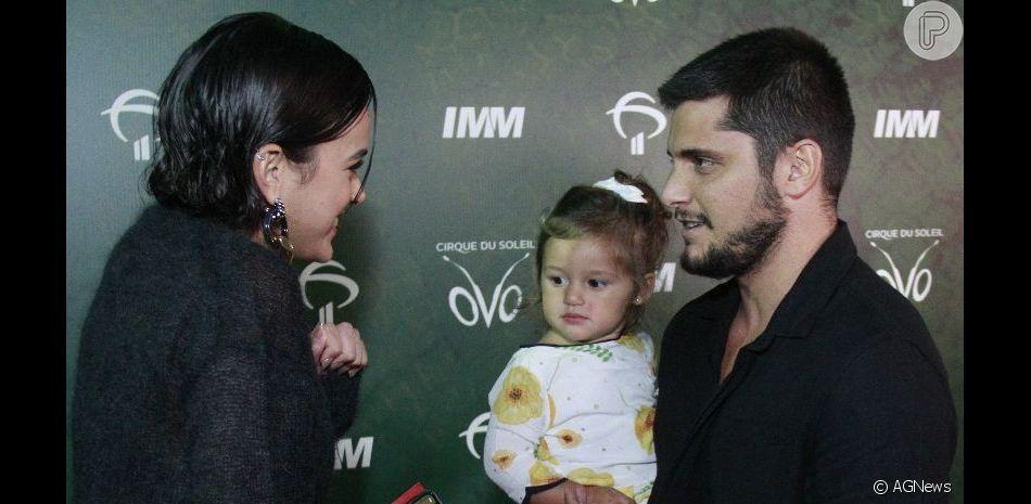 Bruna Marquezine elogiou Madalena, filha de Yanna Lavigne e Bruno Gissoni, nesta quinta-feira, 11 de abril de 2019