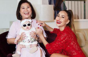Bebê sorriso! Filha de Sabrina Sato, Zoe encanta avó em foto: 'Tanta fofura'