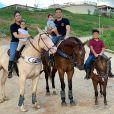 Wesley Safadão reuniu os filhos na comemoração dos 7 meses de Dom