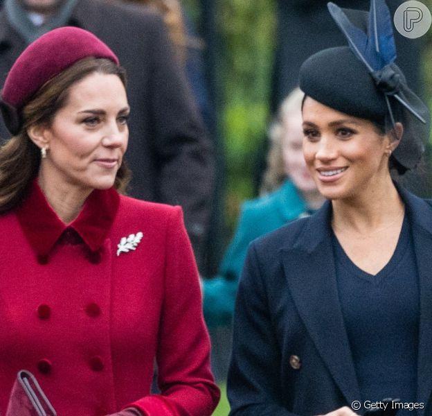 Kate Middleton fez visita secreta a Meghan Markle na reta final da gravidez, de acordo com informações da edição americana da Harpeer's Bazaar nesta sexta-feira, dia 26 de abril de 2019