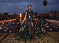 Lupita Nyong'o arrasa com saia de tule com bordados e mix de couro em look Dior