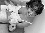 Débora Nascimento mostra vídeo amamentando a filha e vibra com 2º Dia das Mães