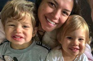 Thais Fersoza ganha penteado da filha, Melinda: 'Fez uma trança?'. Vídeo!
