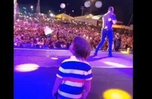 Filho de Gusttavo Lima, Gabriel sobe ao palco e dança em show do pai. Vídeo!
