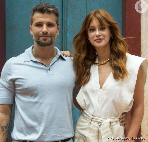 Marina Ruy Barbosa se divertiu com uma brincadeira sobre Giovanna Ewbank que Bruno Gagliasso fez em seu Instagram neste sábado, 25 de maio de 2018