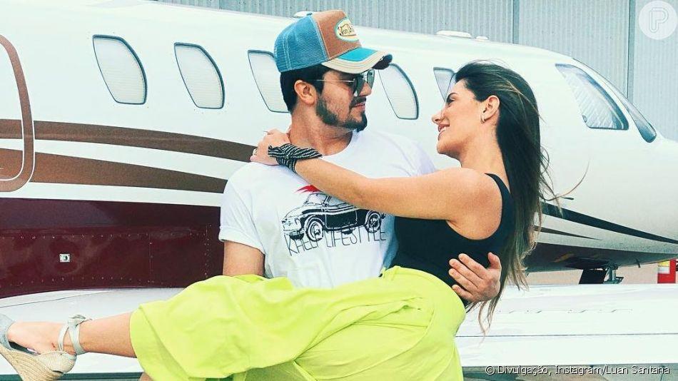 Luan Santana diz que fãs o cobram casamento com namorada, Jade Magalhães, em entrevista neste domingo, dia 26 de maio de 2019