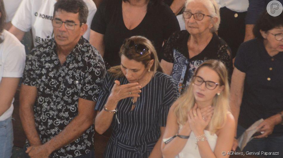 A missa de sétimo dia de Gabriel Diniz aconteceu neste domingo, 2 de junho de 2019