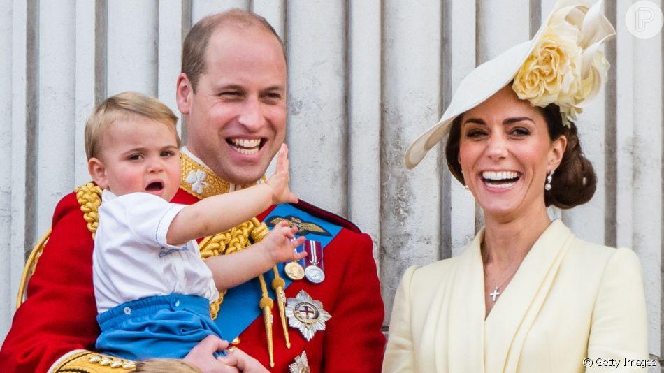 Filho caçula de Kate Middleton e Príncipe William, Louis repete look usado pelo príncipe Harry em 1986, em 8 de junho de 2019