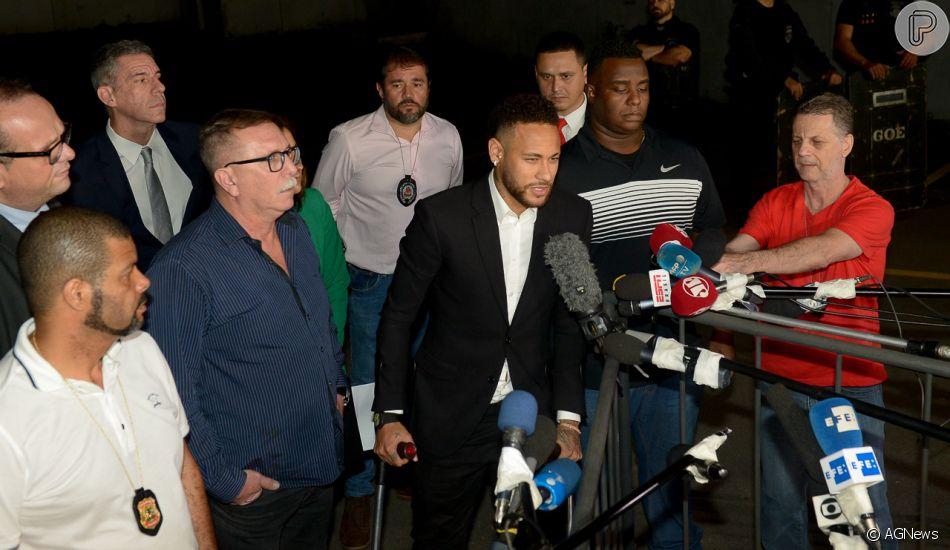 Neymar diz que o filho, Davi Lucca, não tem ido à escola após acusação de Najila Trindade, em 15 de junho de 2019