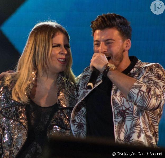 Gabriel Smaniotto elogia Marilia Mendonça após show juntos na sexta-feira, dia 14 de junho de 2019